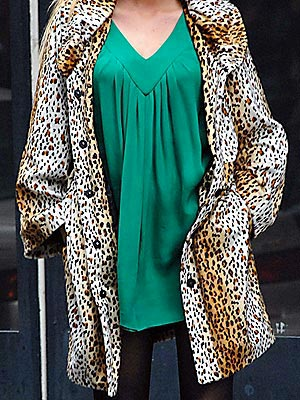 Who showed off her wild side in this leopard coat? | Blake Lively