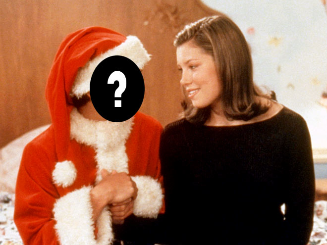 Jessica Biel played which former child star's college girlfriend in a holiday movie?