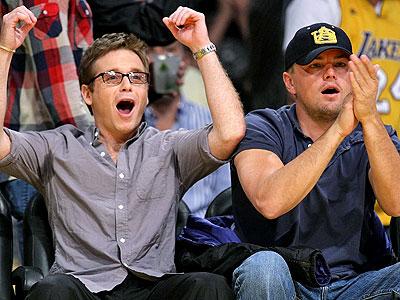 STAPLES CENTER photo   Kevin Connolly, Leonardo DiCaprio