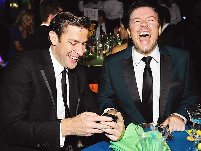 CRACKING UP photo | John Krasinski, Ricky Gervais