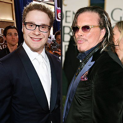  photo | Mickey Rourke, Seth Rogan