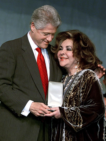 SEAL OF APPROVAL photo | Bill Clinton, Elizabeth Taylor