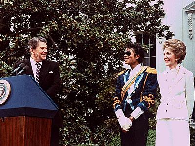 KING OF POP: 'HOUSE' CALL photo | Michael Jackson, Nancy Reagan, Ronald Reagan