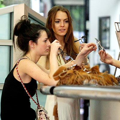 SHOPPING FOR SHADES photo | Ali Lohan, Lindsay Lohan