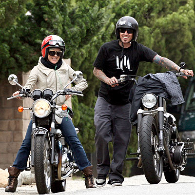 RIDING A MOTORCYCLE photo | Carey Hart, Pink