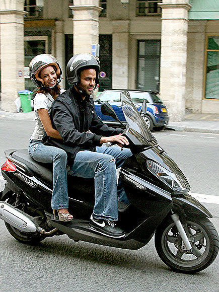 RIDING A SCOOTER photo | Eva Longoria, Tony Parker