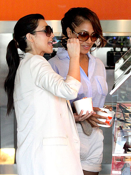 HAVING A SWEET TREAT photo   Kim Kardashian