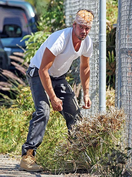 DOING YARD WORK photo | Josh Duhamel
