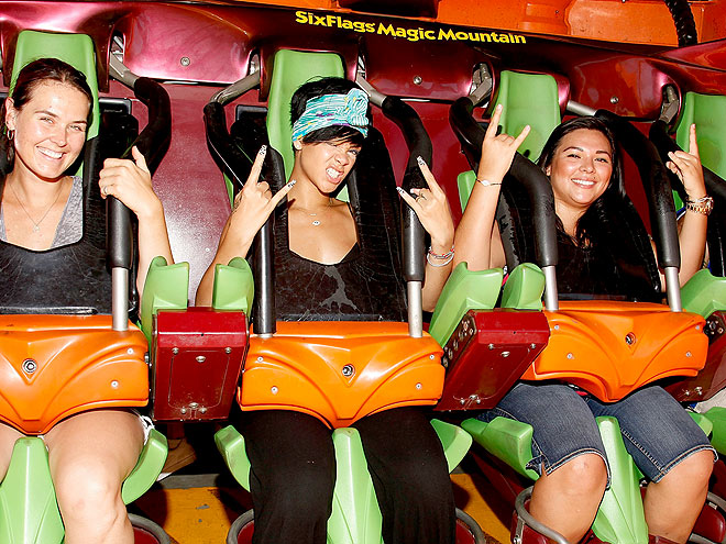 RIDING A ROLLER COASTER photo | Rihanna