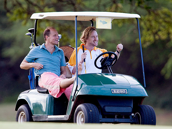 GOLFING photo | Owen Wilson, Woody Harrelson
