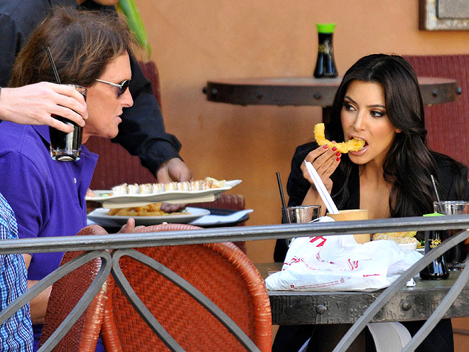 DINING WITH THE FAM photo | Bruce Jenner, Kim Kardashian