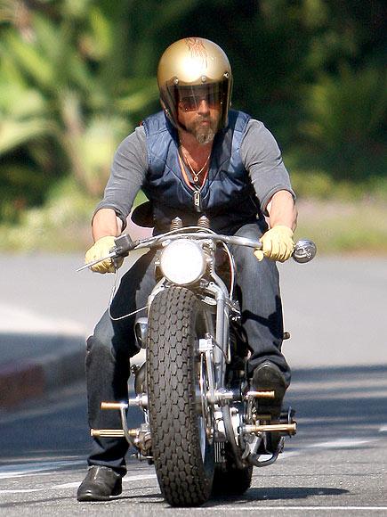 MOTORCYCLE RIDING photo | Brad Pitt