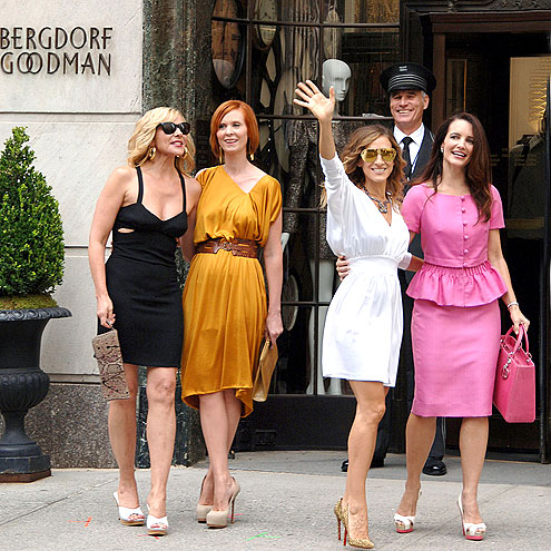 BERGDORF MOB photo | Cynthia Nixon, Kim Cattrall, Kristin Davis, Sarah Jessica Parker