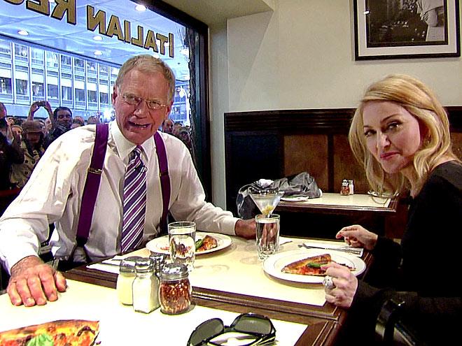 DINNER DATE photo | David Letterman, Madonna