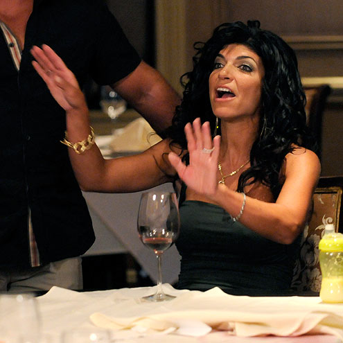 TERESA'S TABLE FLIP-OUT  photo | Teresa Giudice