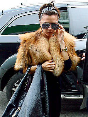 FUR FLYING photo | Victoria Beckham