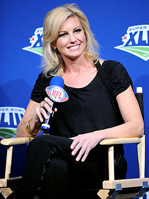 FAITH HILL ATTENDED A SUPER BOWL PRESS CONFERENCE THURSDAY