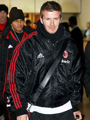 david beckham playing soccer 2009. David Beckham leads the way
