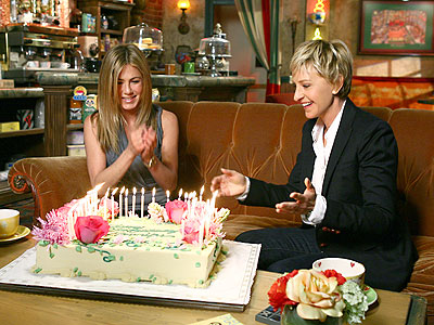 BIRTHDAY GIRL photo | Ellen DeGeneres, Jennifer Aniston