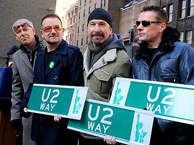 'U2 WAY' STREET photo | U2, Adam Clayton, Bono, Larry Mullen Jr., The Edge