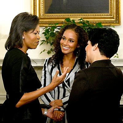 OFF TO SCHOOL photo | Alicia Keys, Michelle Obama