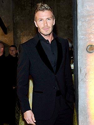 MAN IN BLACK photo   David Beckham
