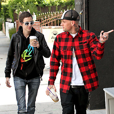 COFFEE CLUTCH photo | Benji Madden, Samantha Ronson