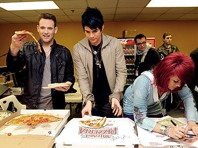 HAPPY MEAL photo | Adam Lambert, Allison Iraheta, Matt Giraud