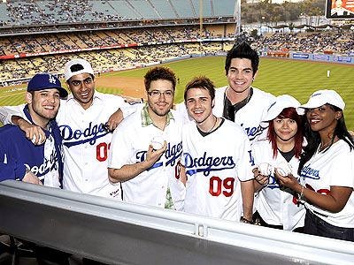 PLAY BALL  photo | Allison Iraheta, Anoop Desai, Danny Gokey, Kris Allen, Lil Rounds, Matt Giraud