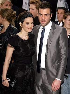 BEAM THEM UP photo | Winona Ryder, Zachary Quinto