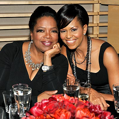 PAYING TRIBUTE photo | Michelle Obama, Oprah Winfrey