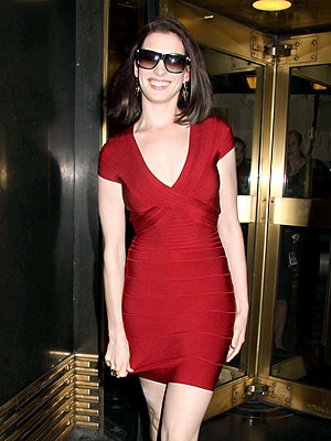 LADY IN RED photo | Anne Hathaway