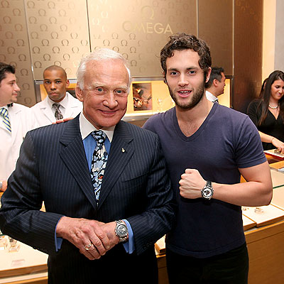 QUALITY TIME photo | Buzz Aldrin, Penn Badgley