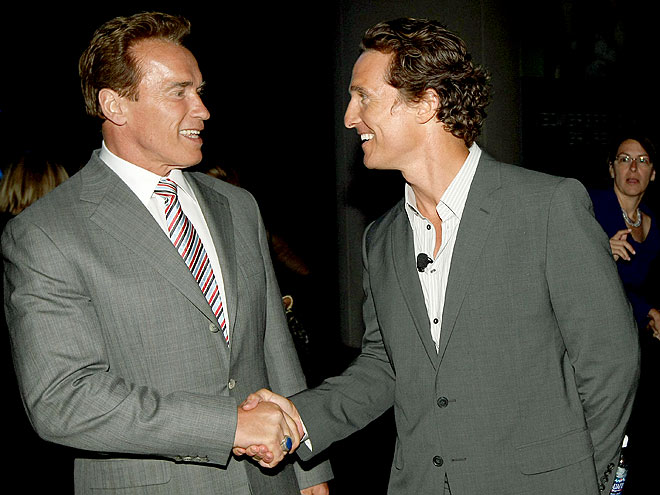 REACHING OUT photo | Arnold Schwarzenegger, Matthew McConaughey