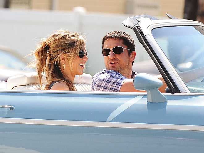 DROP TOP photo | Gerard Butler, Jennifer Aniston
