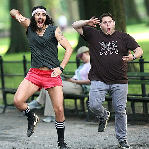 UP IN ARMS photo | Jonah Hill, Russell Brand