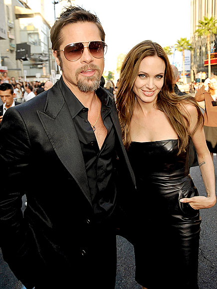 BACK IN BLACK photo | Angelina Jolie, Brad Pitt