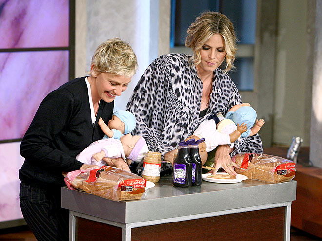 IN A PB JAM photo | Ellen DeGeneres, Heidi Klum
