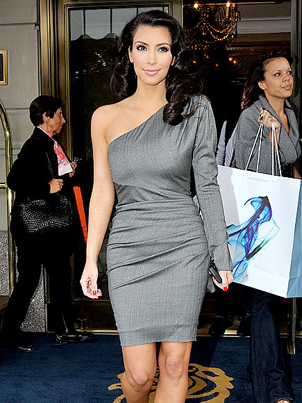 GRAY LADY photo | Kim Kardashian