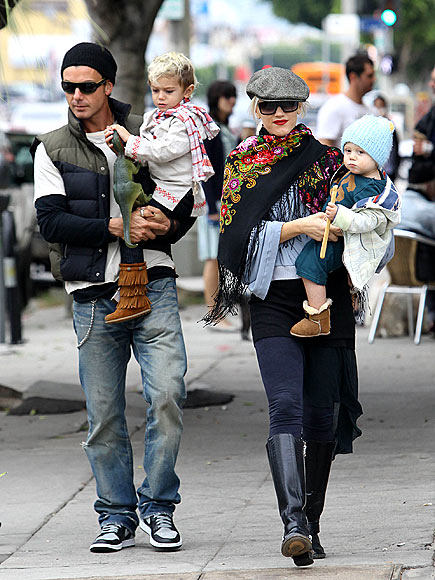 THE BREAKFAST CLUB photo | Gavin Rossdale, Gwen Stefani, Kingston Rossdale, Zuma Rossdale