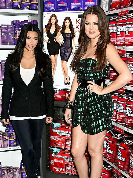 SLIMMING SISTERS photo | Khloe Kardashian, Kim Kardashian