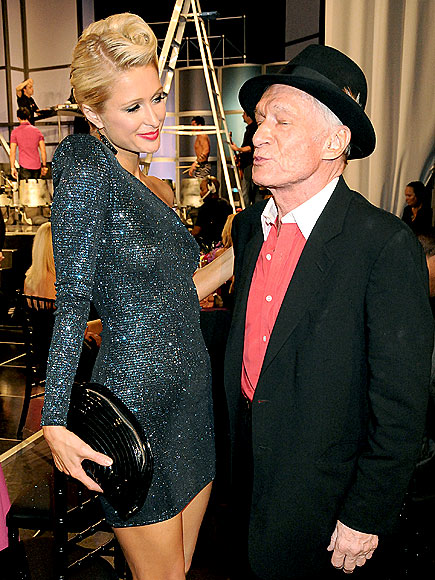 LIP SERVICE photo | Hugh Hefner, Paris Hilton