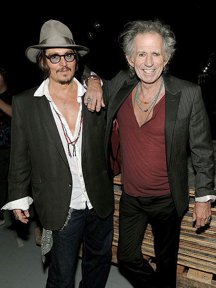 LEAN ON ME photo | Johnny Depp, Keith Richards