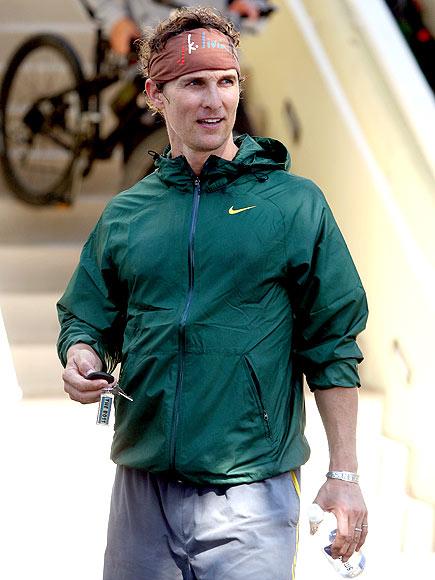 SWEATING IT photo | Matthew McConaughey