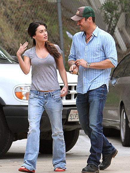 WALKING & TALKING photo | Brian Austin Green, Megan Fox