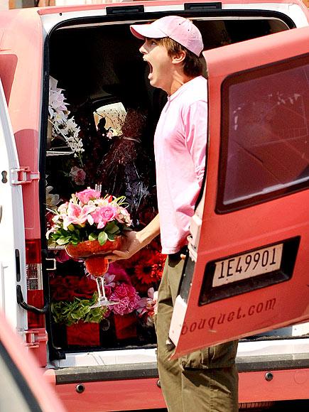 OMG, FLOWERS! photo | Ashton Kutcher