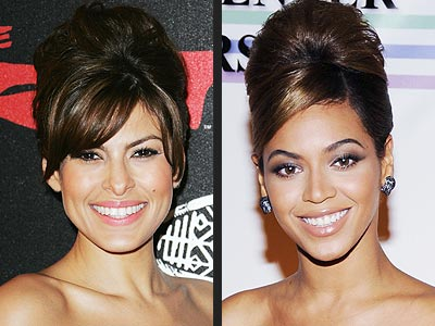 BEEHIVE UPDO photo | Beyonce Knowles, Eva Mendes