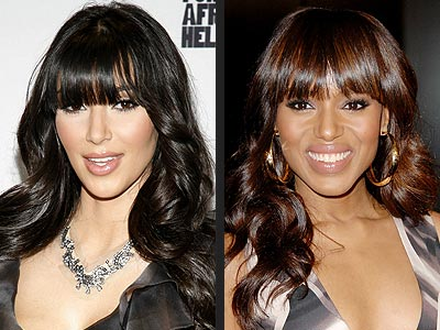LASH-SWEEPING BANGS photo | Kerry Washington, Kim Kardashian