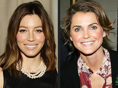 ROSY CHEEKS photo | Jessica Biel, Keri Russell