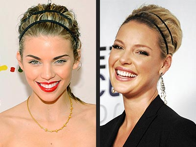 DOUBLE-WRAP HEADBAND  photo | AnnaLynne McCord, Katherine Heigl